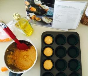 carrot cupcakes batter