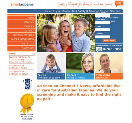 smart aupairs website